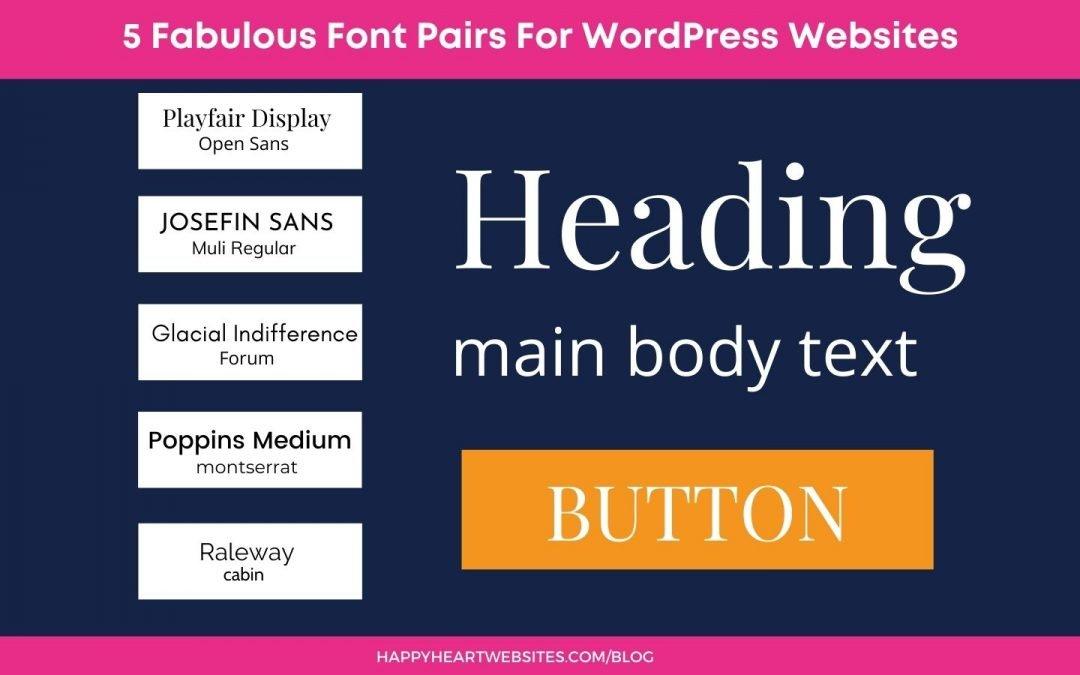 5 Fabulous WordPress Website Fonts