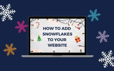 How To Add Snowflakes To Your Website